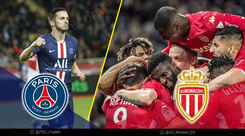 france ligue 1 2020 psg vs monaco highlights