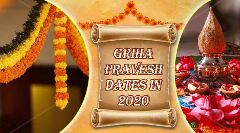 griha pravesh dates in 2020