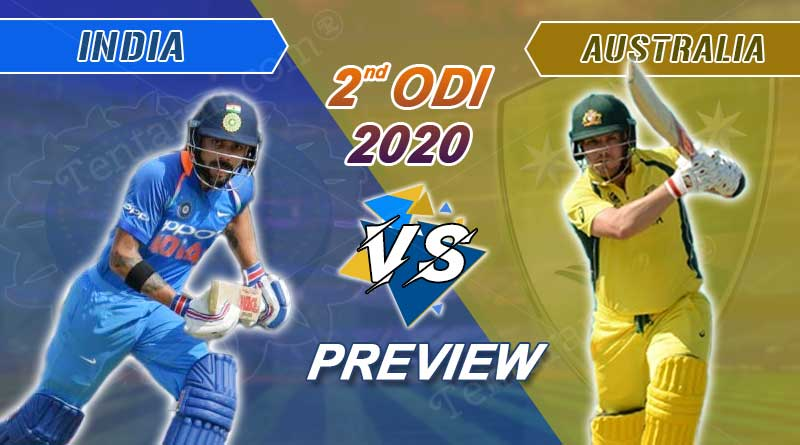 india vs australia 2nd odi 2020 playing 11