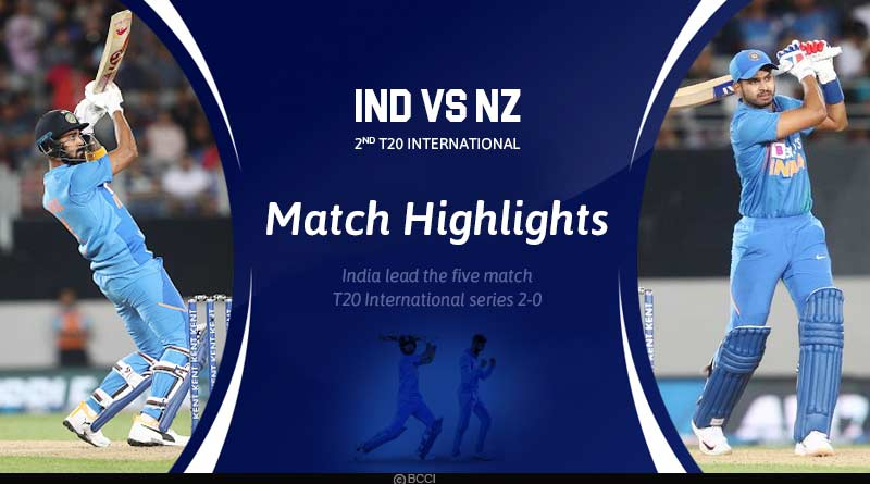 India marches to a second consecutive win in style in the second T20 International game at Auckland