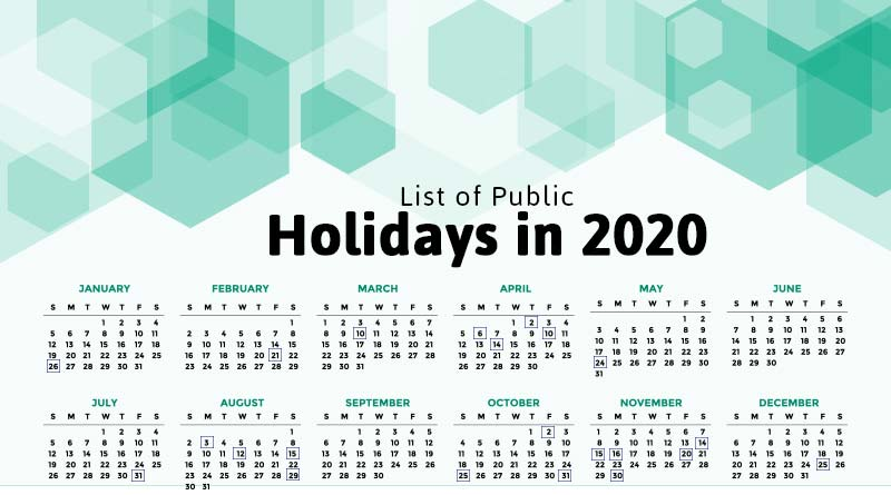 list of public holidays in 2020 in India