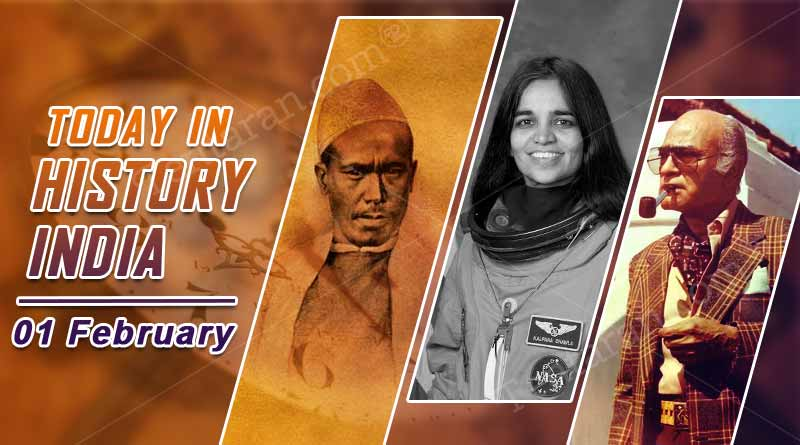 today in history india 01 february