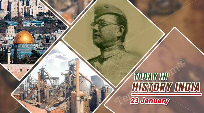 today in history india 23 january