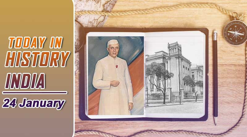today in history india 24 january