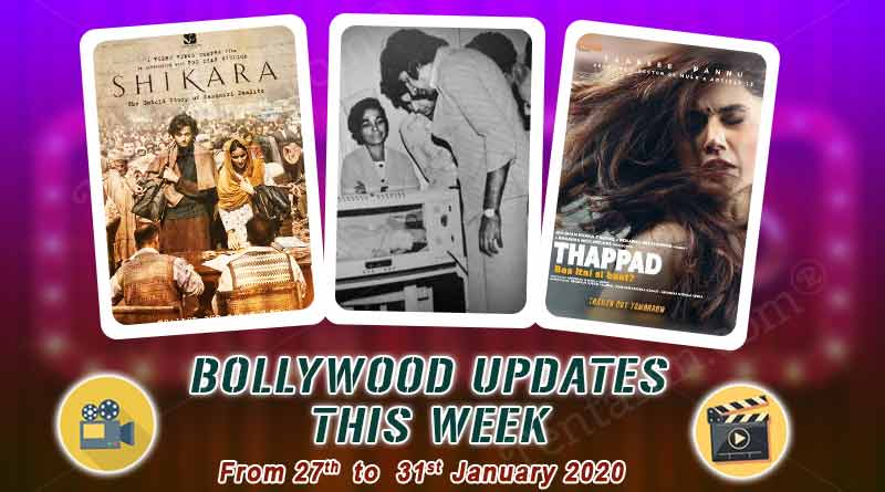 bollywood entertainment news 27th to 31st january 2020