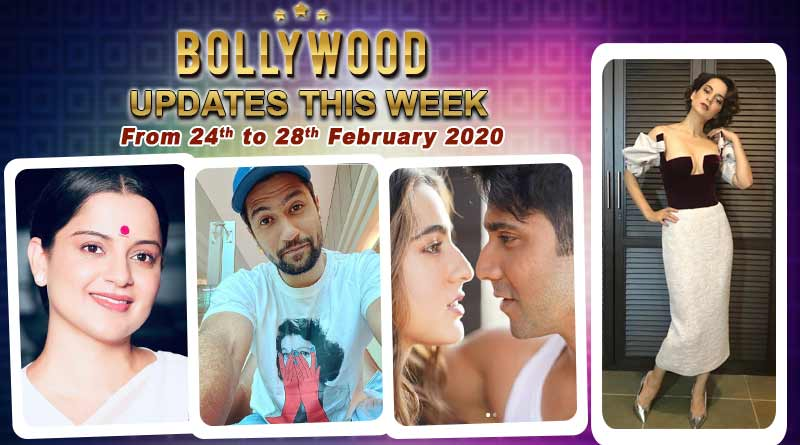bollywood weekly news 24th to 28th february 2020