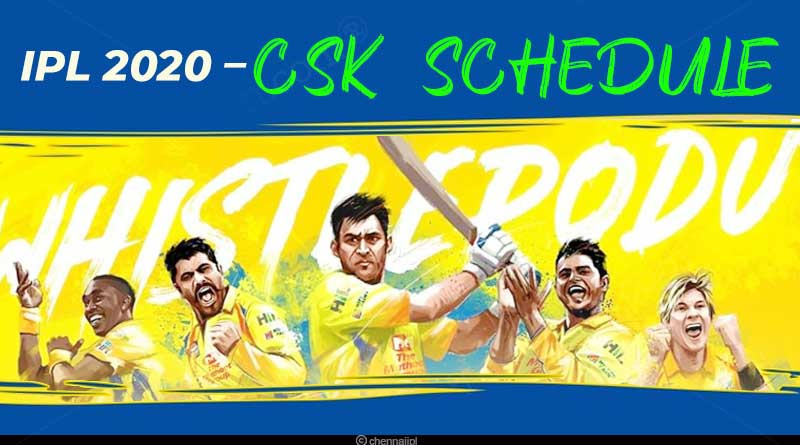 chennai super kings ipl 2020 schedule pdf