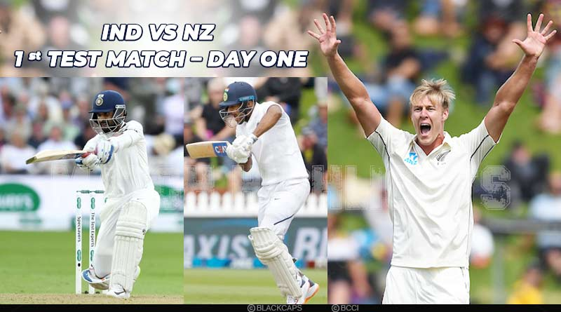 Debutant Kyle Jamieson puts New Zealand on Top after the first day's play