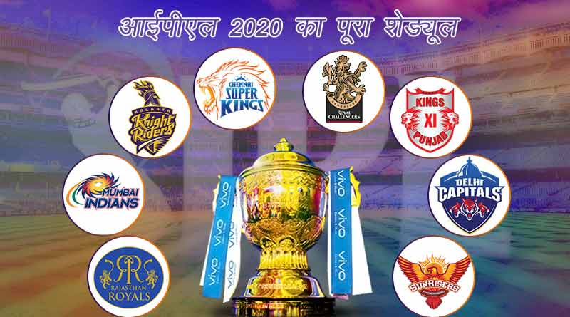 ipl 2020 schedule time table list