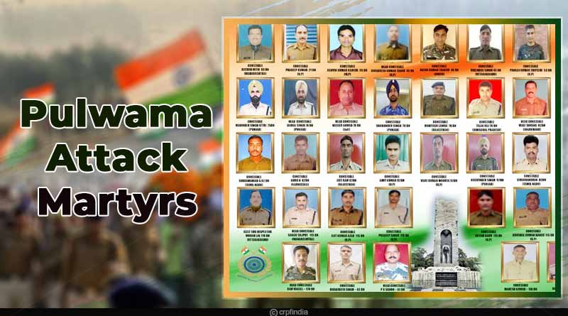 pulwama attack crpf name list