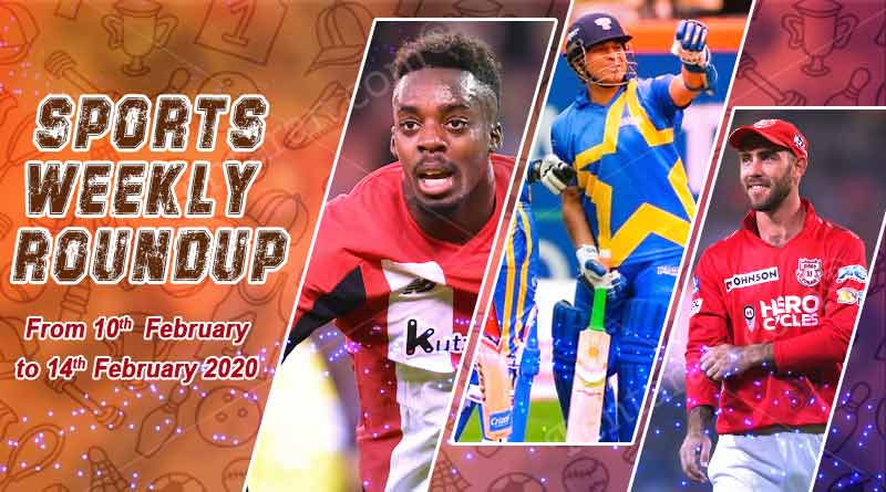 sports weekly roundup 10th to 14th february 2020