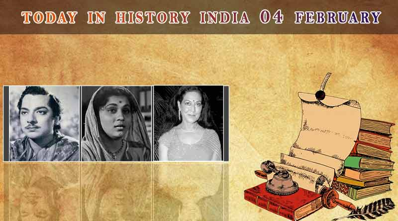today in history india 04 february