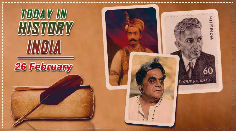 today in history india 26 february