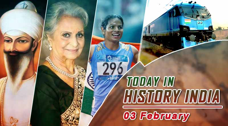 today in history india 3 february