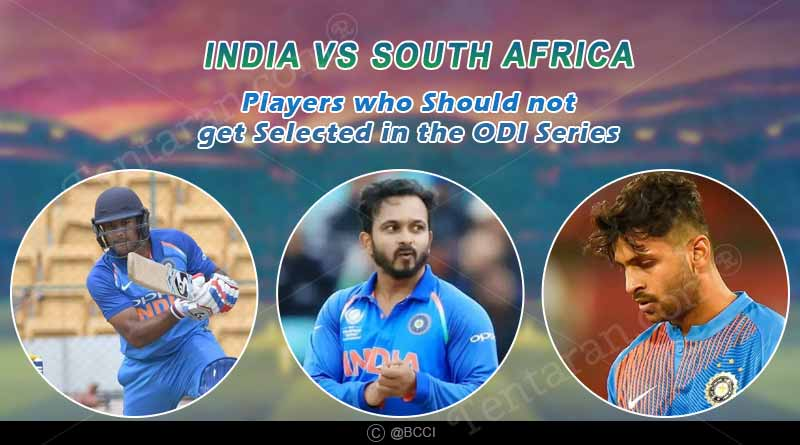 4 players who should not get selected against south africa