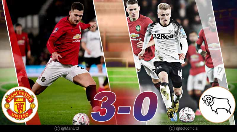 fa cup 2020 derby county vs man united highlights