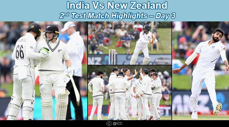 india vs new zealand 2nd test 2020 highlights