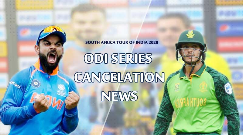 india vs south africa 2020 series cancelled news