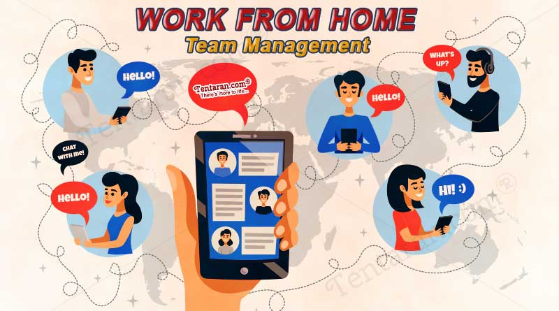work from home team management