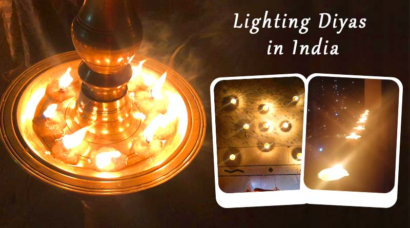 lighting diyas 9 pm 9 minutes images in india