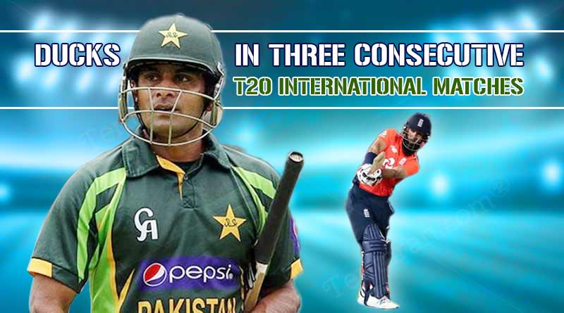 most consecutive ducks in t20i cricket