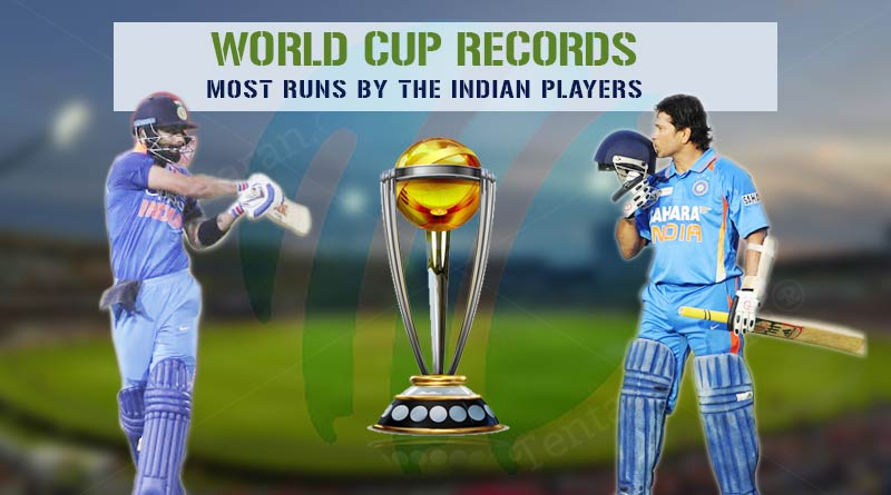 most runs in world cup history by indian players