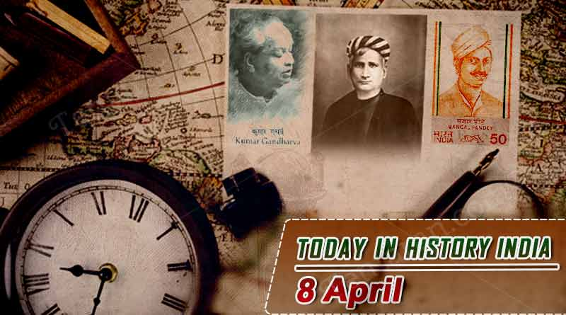 today in history india 8 april