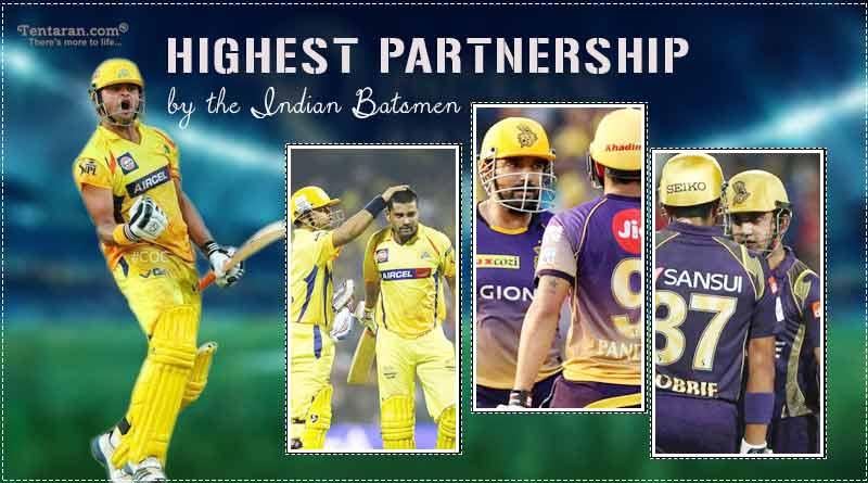 highest partnership in ipl by indian players