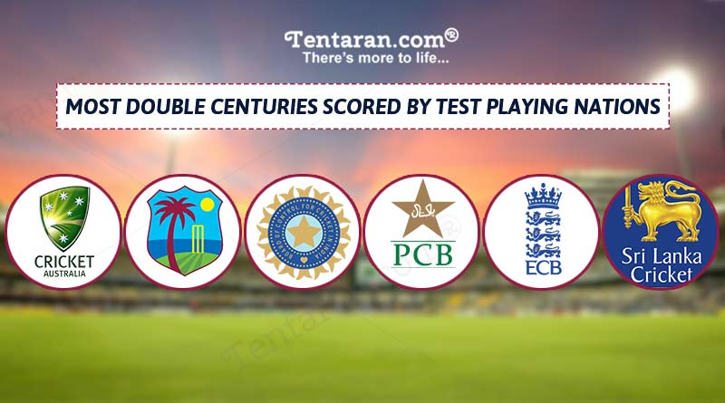 most double century in test by team