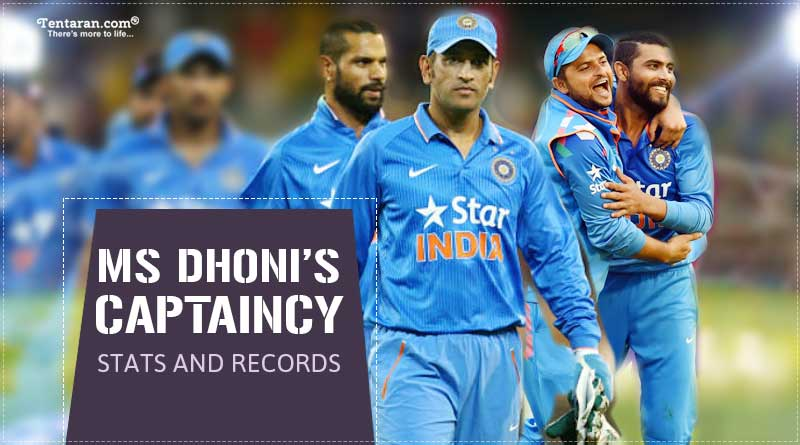 ms dhoni captaincy stats