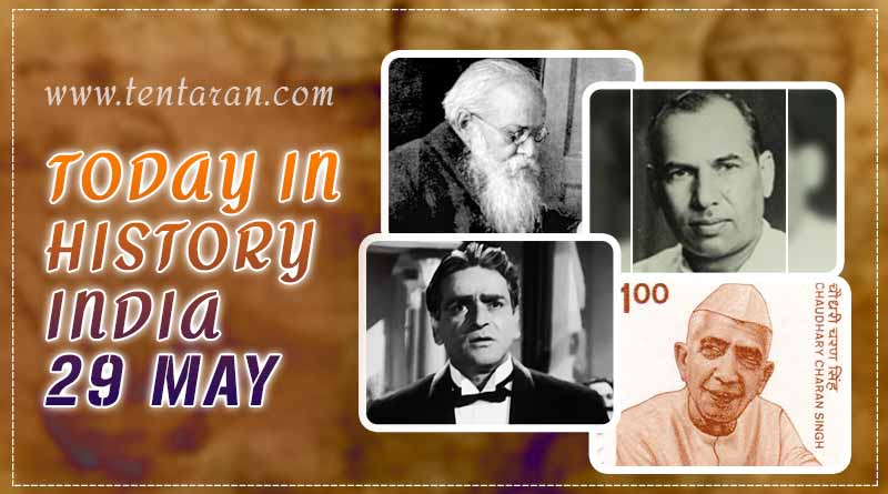 today in history india 29 may