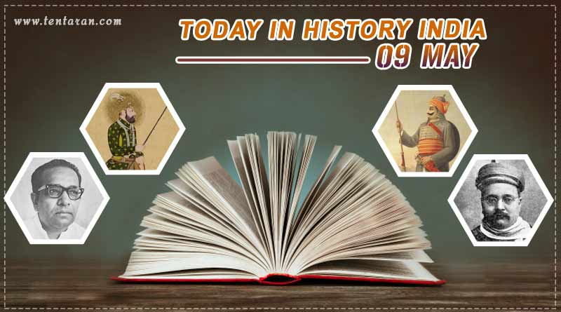 today in history india 9 may