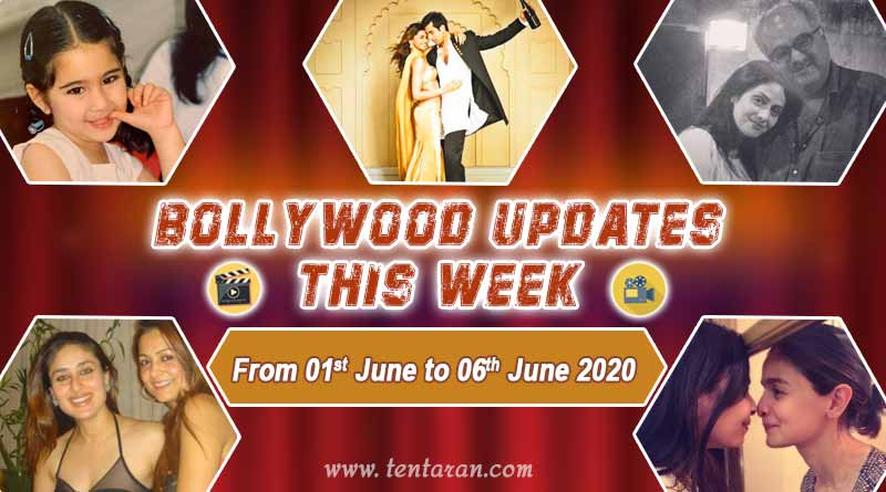 bollywood weekly news 1st to 6th june 2020