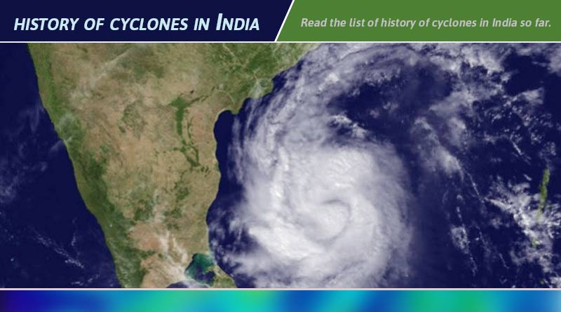history of cyclones in india