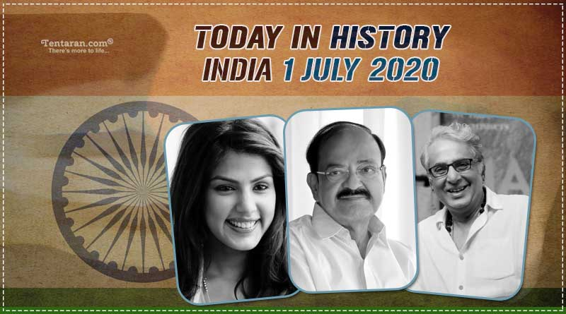 today in history india 1 july