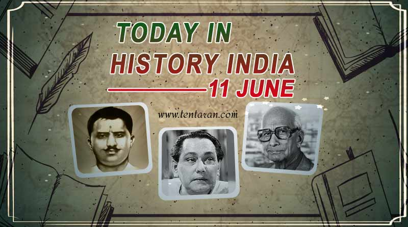 today in history india 11 june