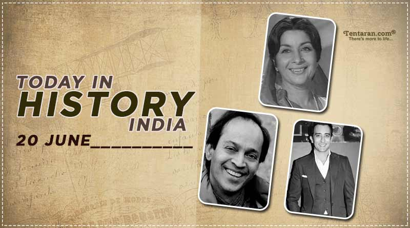 today in history india 20 june