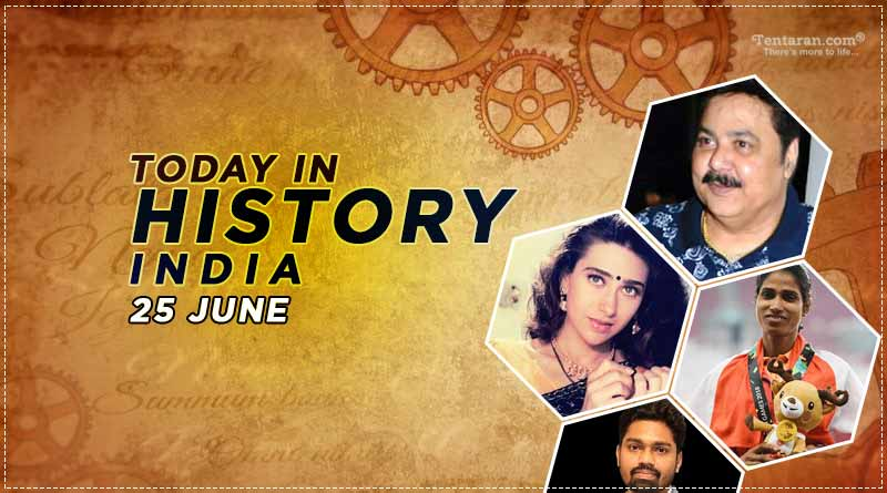 25 June in Indian history