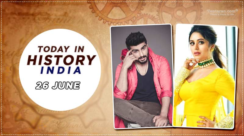 today in history india 26 june