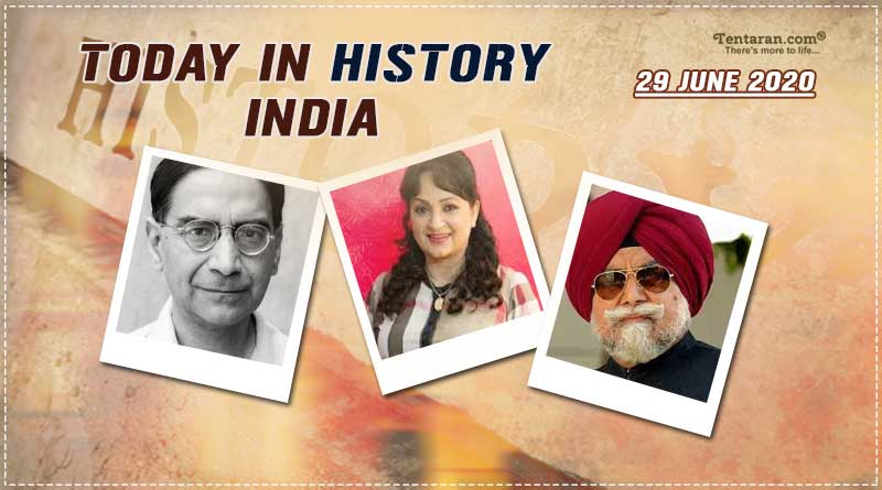 today in history india 29 june