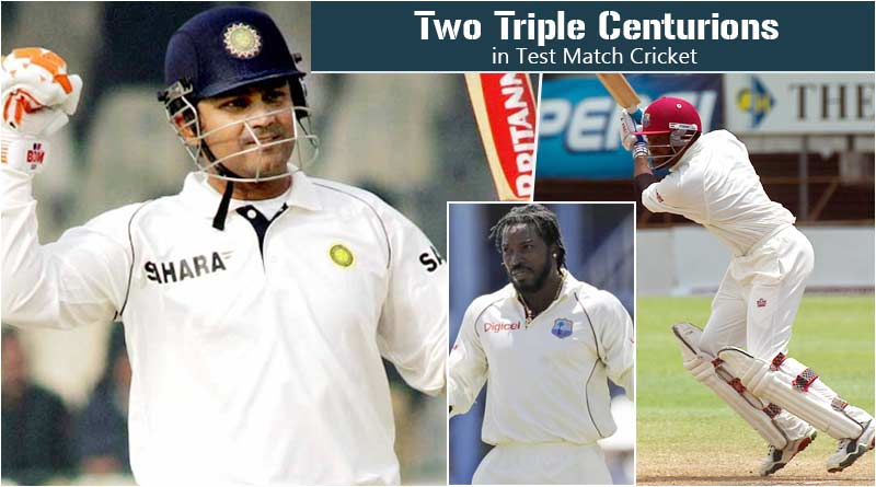 two triple centuries in test cricket