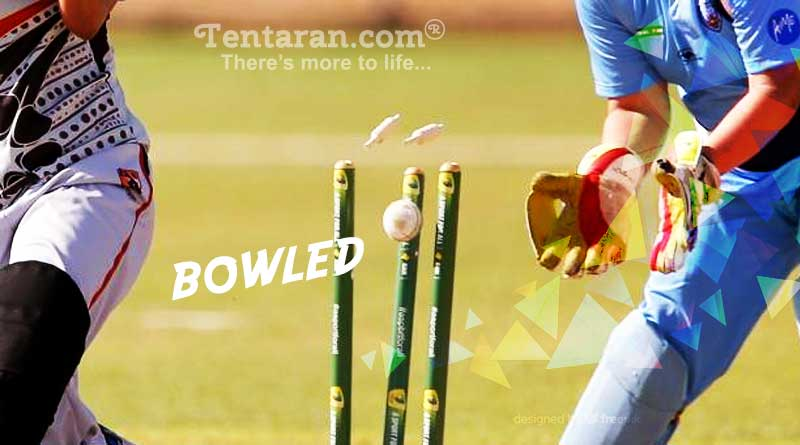 bowled out