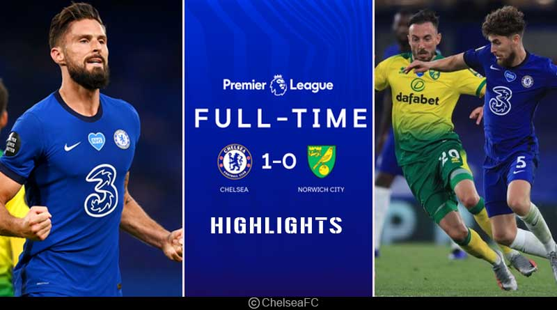football highlights 2020 chelsea vs norwich city
