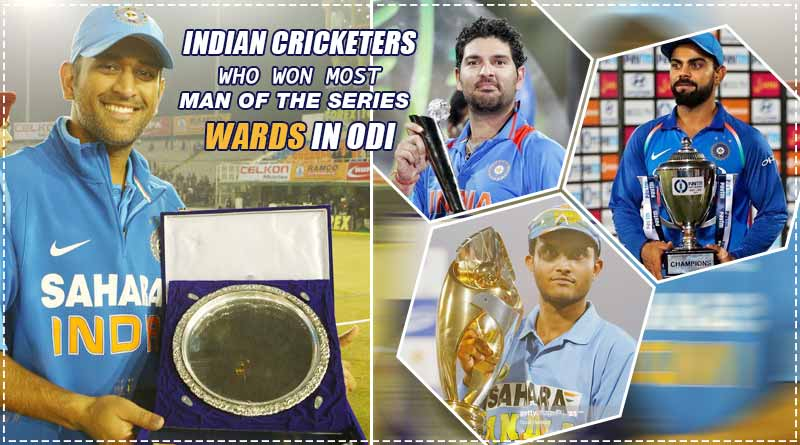 most man of the series awards in odi