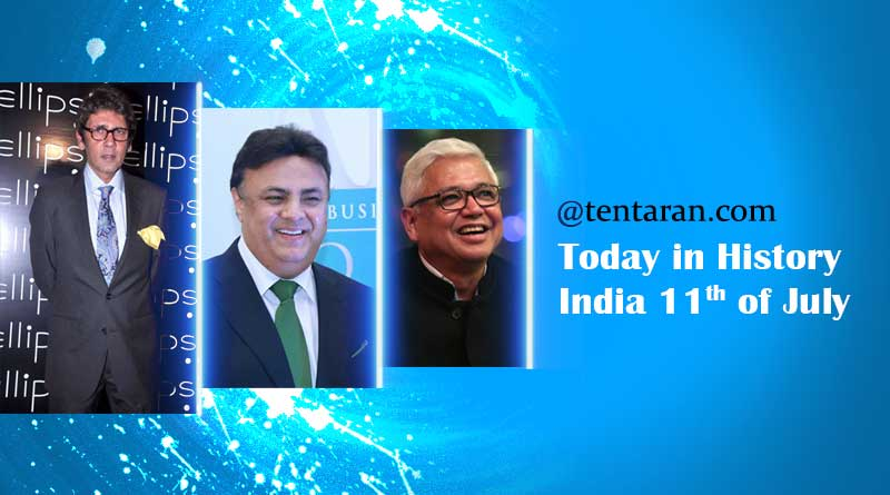 today in history india 11 july