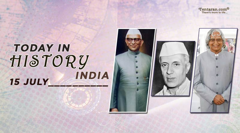 today in history india 15 july