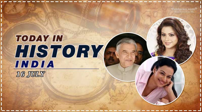 today in history india 16 july