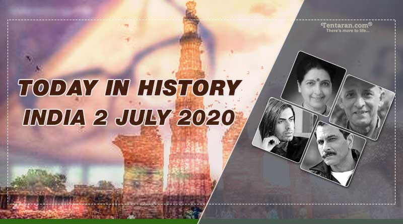 today in history india 2 july