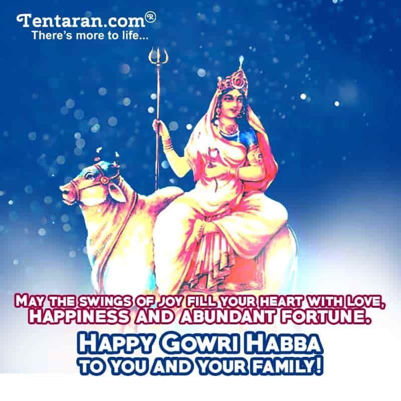gowri ganesha festival wishes images in english