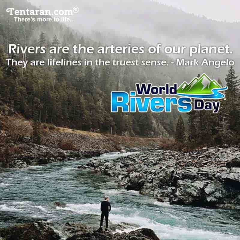 Happy World Rivers Day images poster